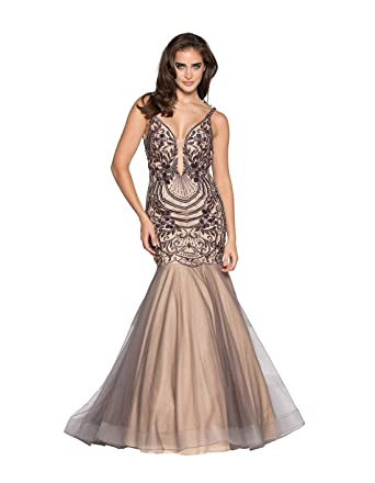 813807559 Aries Tuttle Luxury Appliques Beaded Tulle Mermaid Wedding Party Prom Dress  Evening Celebrity Gown