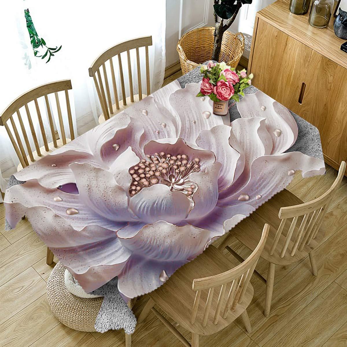 HUANZI Abwaschbare Tischdecke Dekorative Tischdecken Rechteckige 3D HD-Druckmuster Antifouling Und Umweltschutz FüR KüChe Outdoor Garten Party, 90cmx150cm B07JR518Z8 Tischdecken