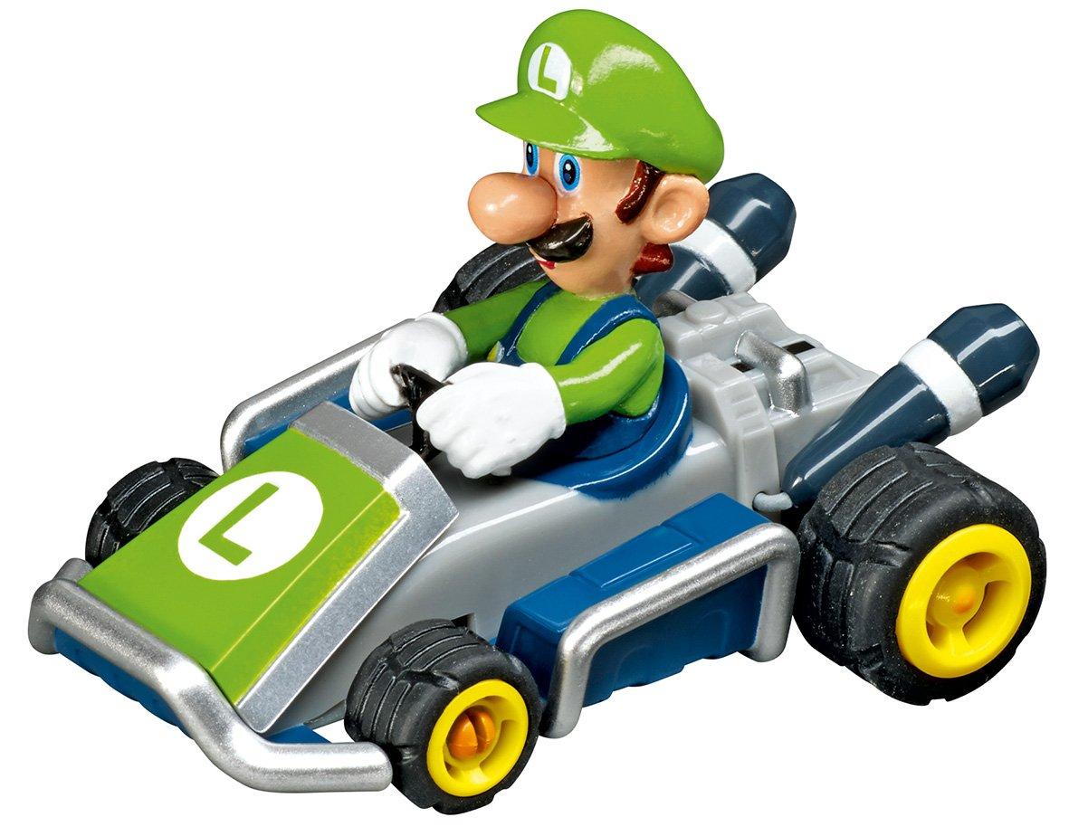 Carrera - Circuito GO 143 Nintendo Mario Kart 7 (Mario y Luigi) 4.9 metros, escala 1:43 (20062317): Amazon.es: Juguetes y juegos