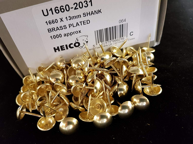 GENUINE HEICO IN BRANDED BOX 1000 Bronze Renaissance upholstery nails 1 cm diameter decorative furniture studs