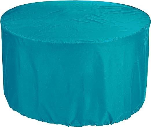 KaufPirat Premium Fundas para Mesa Redonda Ø 120x70 cm Cubierta Impermeable Funda para Mesa para Mobiliario de Exterior, Oxford Fundas para Proteger Muebles de Jardín ...
