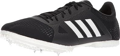 adidas Adizero md Running Shoe, core Black, FTWR White, hi res Orange s, 12.5 M US
