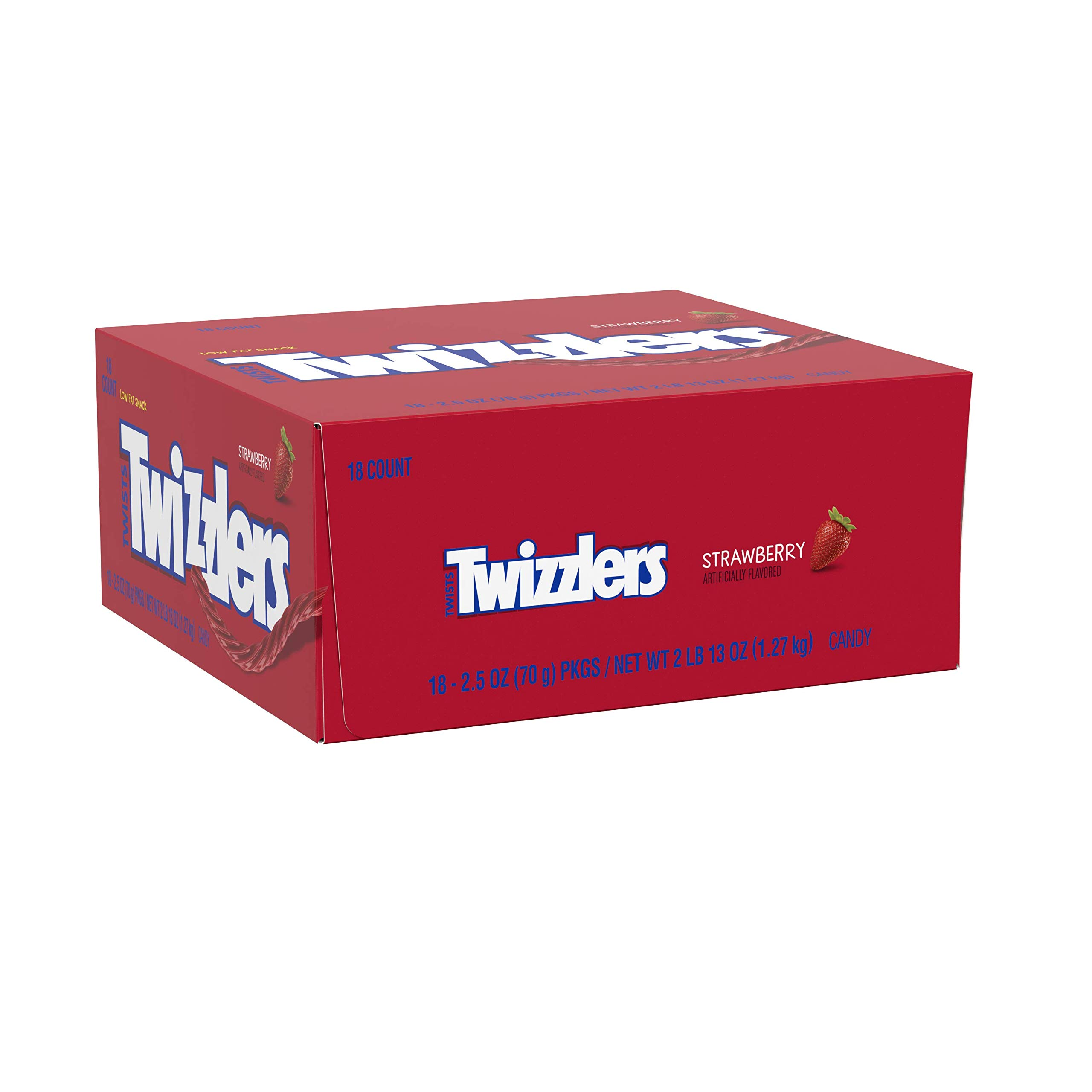 TWIZZLERS Twists Strawberry Flavored Chewy Candy, Easter, 2.5 oz Bags (18 Count)