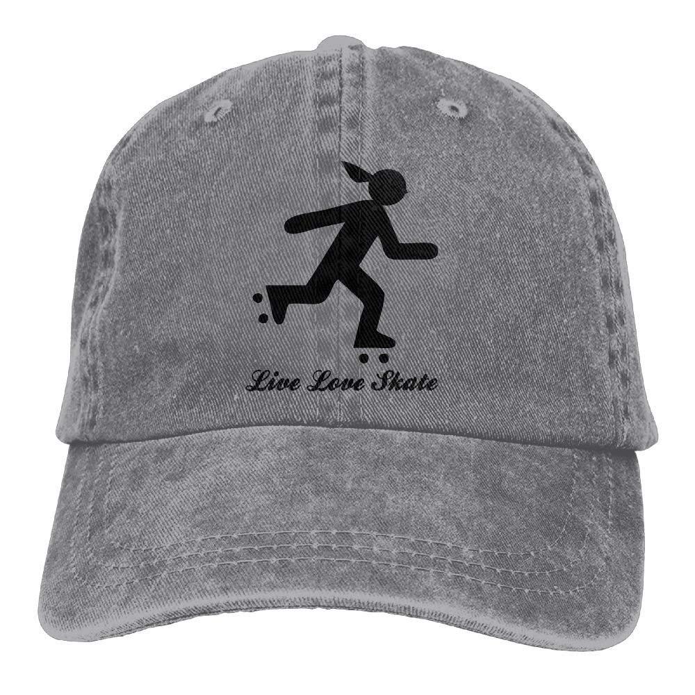 Roller Derby Live Love Skate Skater Chica Cowboy Sombrero ...