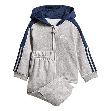 adidas Unisex Baby I Logo Full Zip con Capucha Fleece Chándal ...