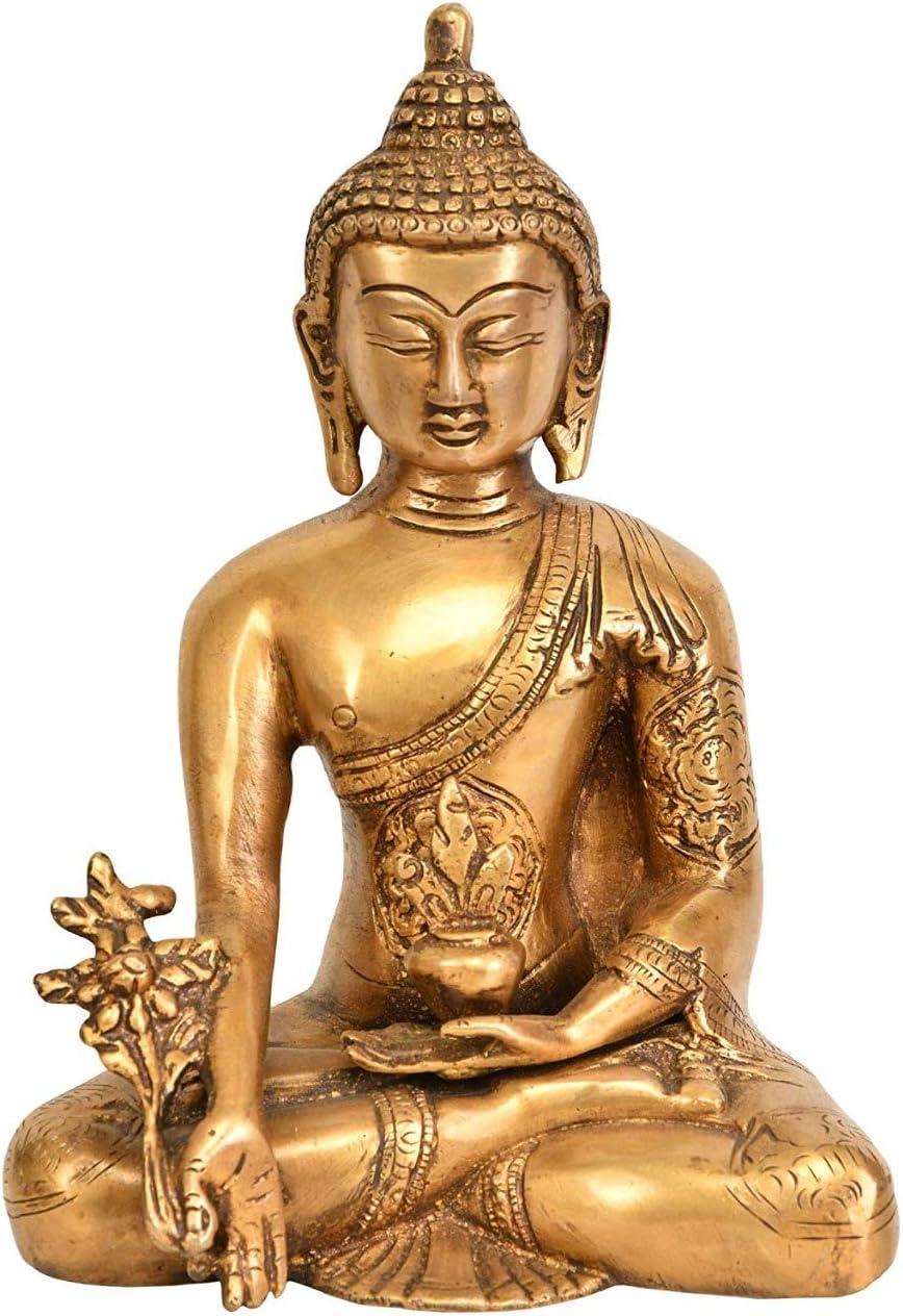 OSNICA Buddhistische Kunst Messing Statue Meditation Buddha f/ür Frieden und Ruhe Wohnkultur 5 Zoll