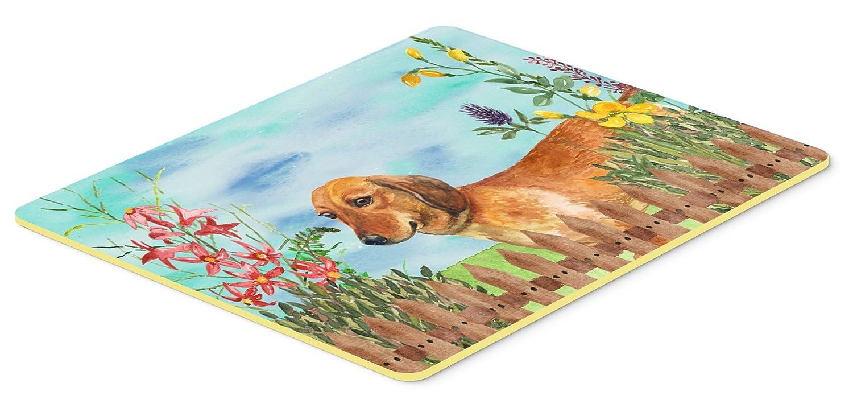 Carolines Treasures CK1214JCMT Dachshund Spring Kitchen Mat 24 x 36 Multicolor
