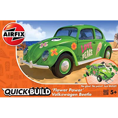 Airfix J6031 VW Beetle Flower-Power Model Kit, Green: Toys & Games