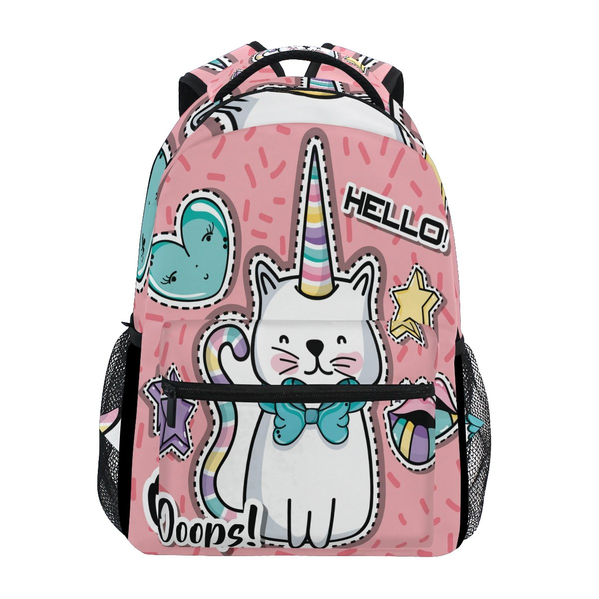 e5274cc751 Amazon.com  TropicalLife Fashion Cute Girl Unicorn Hello Backpacks School  Bookbag Shoulder Backpack Hiking Travel Daypack Casual Bags  Computers   ...