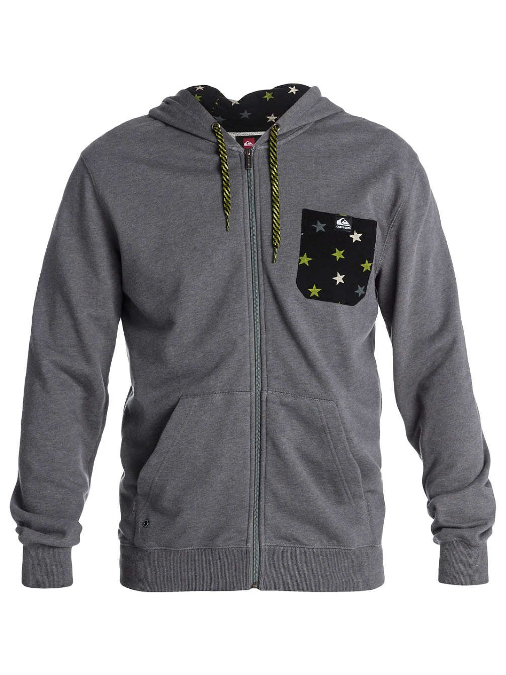 Sweater Hooded Zip Men Quiksilver Solana Terry Star Hoodie
