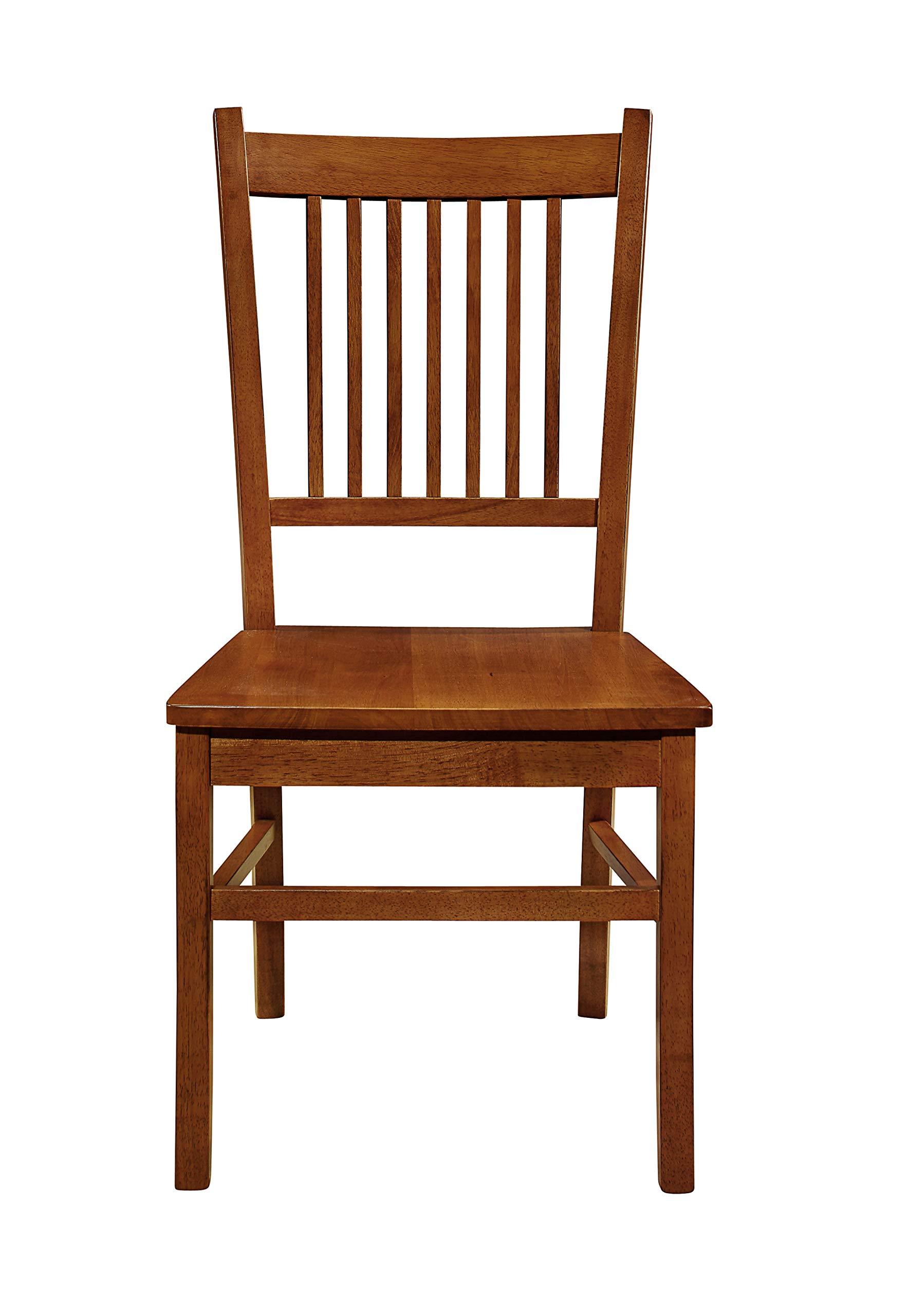 Marbrisa Slat Back Side Chairs Sienna Brown (Set of 2)