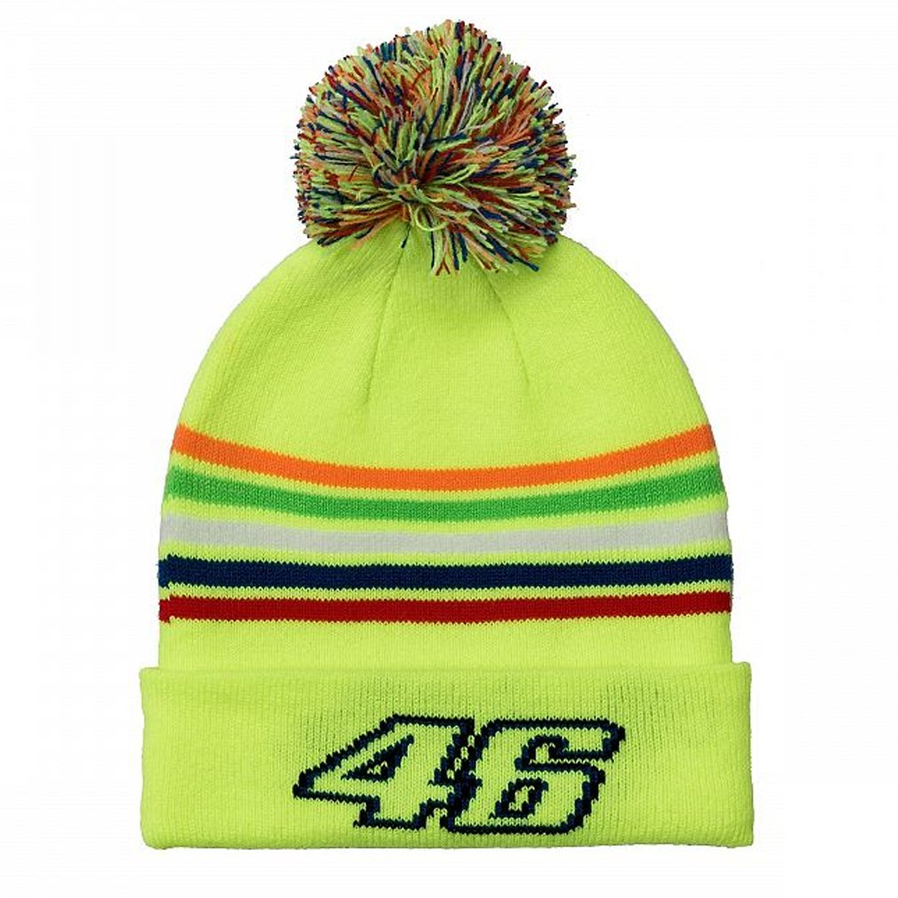 Valentino Rossi VR46 Moto GP The Doctor Stripes Kids Bobble Beanie Official 2018 VR/46