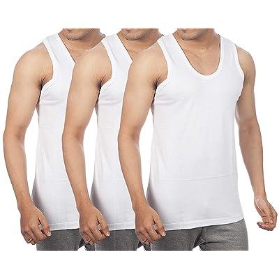 GOPAL Rupam Interlock Sleeveless Men's Cotton Vest (Pack of 3) at Men's Clothing store