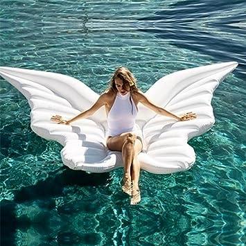 JX-WATER FLOATS Flotador Inflable de la Mariposa del ala del ángel con la Fiesta