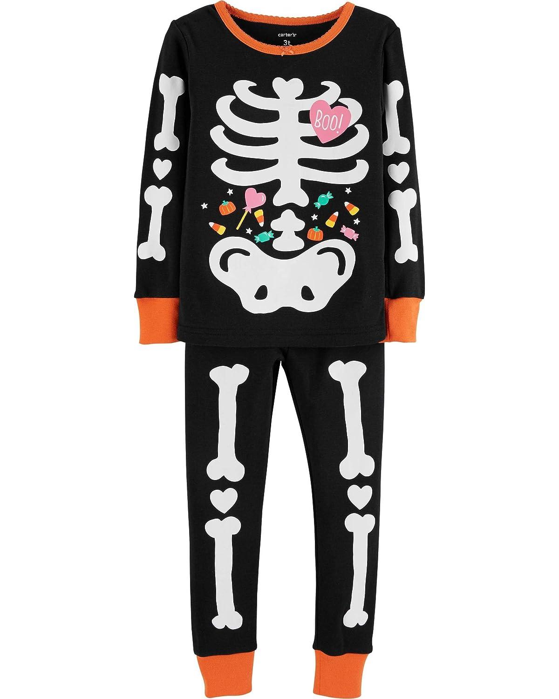 Carter's Toddler Girls Glow-in-The-Dark Skeleton Pajama Set Carters P000530208