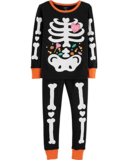 895dd439efe0 Amazon.com  Carter s Girls Halloween Skeleton Snug Fit Glow-in-The ...