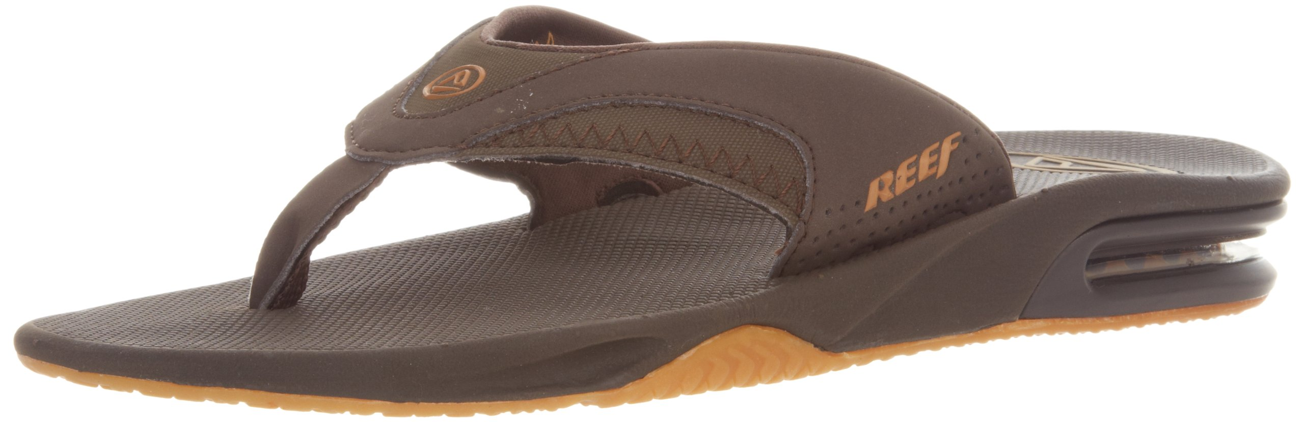 Reef Men's Fanning Bottle Opener Sandals, Brown/Gum, 14