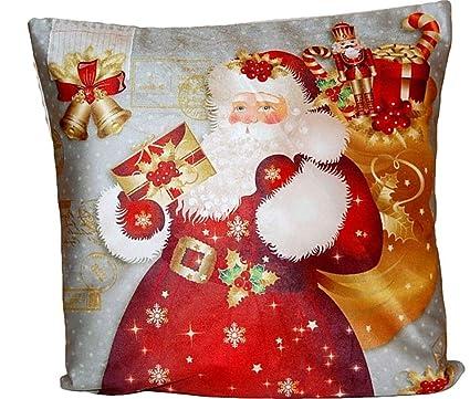 Tischdecken Iris Shop Kissenhüllen Kissenhülle 40x40 Cm Weihnachten Dekokissen Weich Bezug Kissen Weihnachtsmann Mit Brief