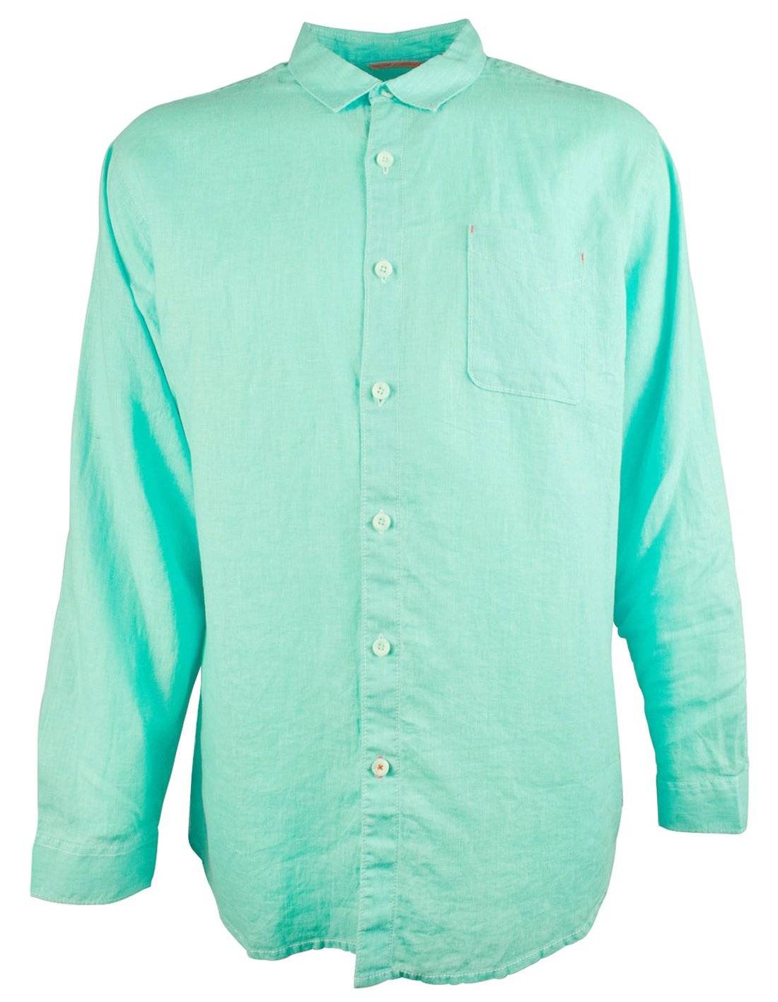 Tommy Bahama Men's Big and Tall Sea Glass Breezer Linen Long Sleeve Shirt-LC-3XB