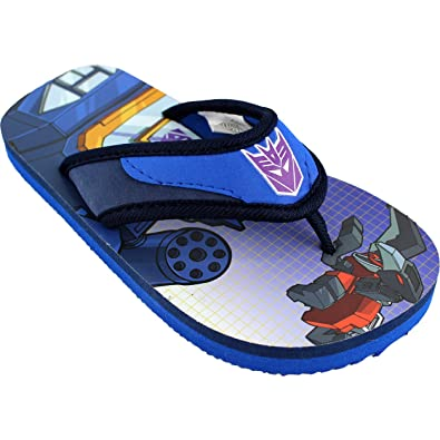 878aa69f93 Transformers  quot Optimus Prime quot  Blue Flip Flops Boys ...
