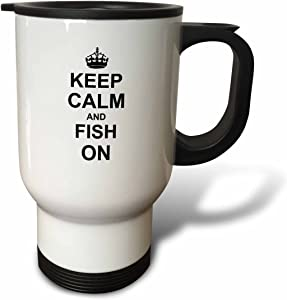 3dRose Keep Calm and Garden On-Carry on Gardening-Gardener Gifts Travel Mug, 14-Ounce