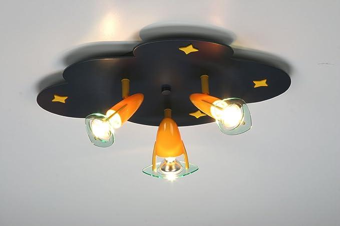 Plafoniere Bambini : Niermann bambini lampada plafoniera faretto nuvole amazon