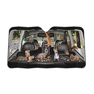 Archie McPhee - Accoutrements Auto Sunshade, Car Full Of Squirrels,One Size: Automotive