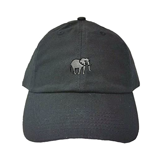 f50173ebd64 Amazon.com  Go All Out Adjustable Black Adult Elephant Embroidered ...