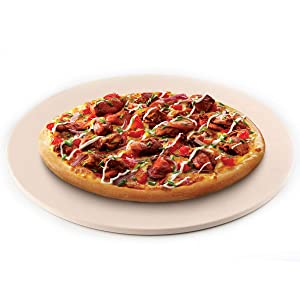 "waykea 12"" Round Pizza Stone for Grill, Oven or RV Oven | Cordierite Grilling Stone Bread Baking Stone"
