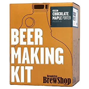Brooklyn Brew Shop Chocolate Maple Porter Beer Making Kit: All-Grain Starter Set With Reusable Glass Fermenter, Brew Equipment, Ingredients (Malted Barley, Hops, Yeast) Perfect For Brewing Craft Beer