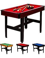 """Maxstore 4 ft Billardtisch """"COMPACT"""" + Zubehör, 3 Farbvarianten, 122x61x76 cm (LxBxH), schadstoffgeprüft, wählbar in 3 Dekorvarianten mit unterschiedlichen Tuchfarben"""
