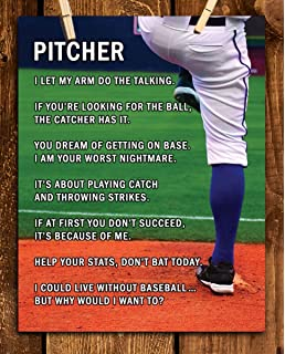 Amazon.com: Baseball Pitcher Parking Only Funny Sign Cool ...