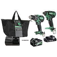 Lowes.com deals on Metabo HPT 2-Tool 18V Brushless Power Tool Combo Kit w/Case