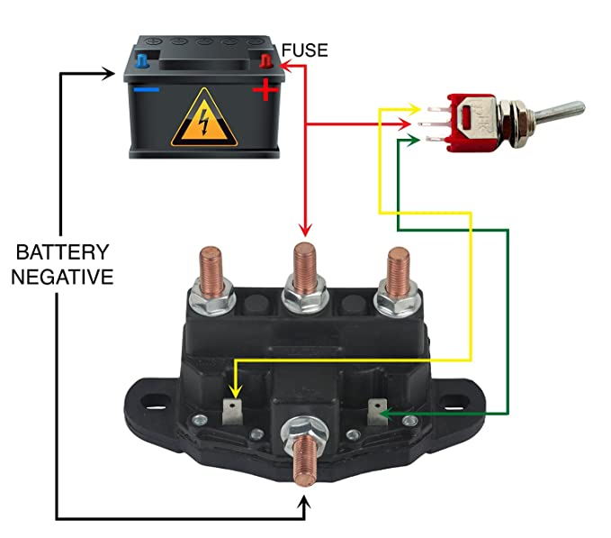 new relay winch motor reversing solenoid switch fits 12 volt 24450bx 214 1211a51 Reverable Tarp Switch Wiring Diagram tilt trim motor tips arco