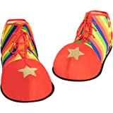 Accessories Props and Kits NET PLAYZ Unisex Clown Shoes Rainbow Dots Halloween Costumes