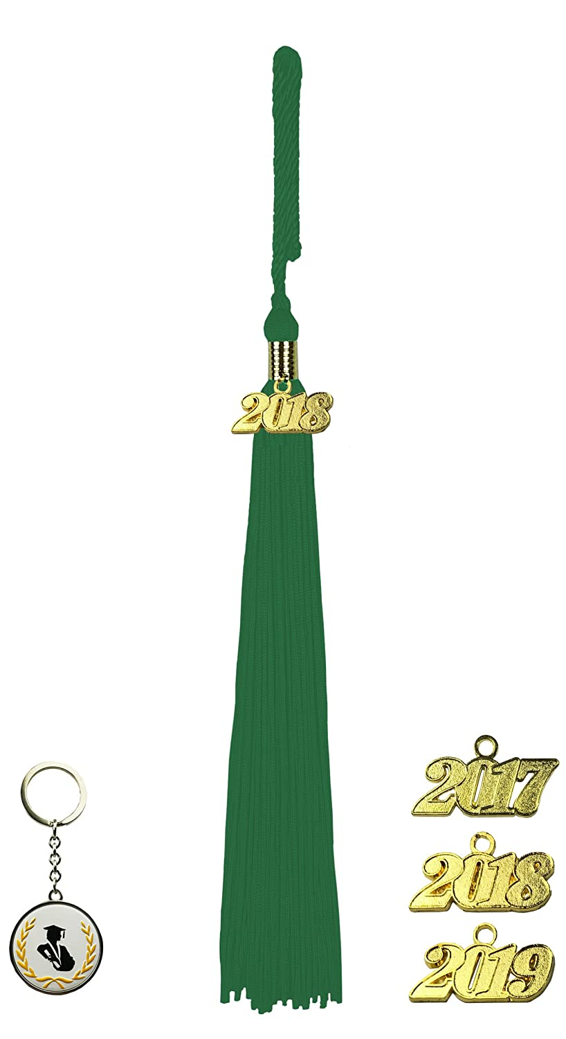 FIT4FGRAD Graduation Tassel with golden Signet Set and Keychain emerald green