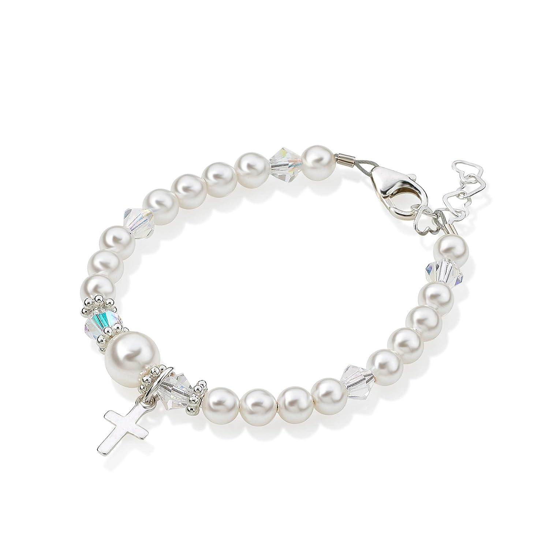 Amazon.com: Crystal Dream Christening Amuleto de plata ...
