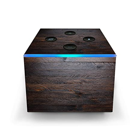 Skin Decal Vinyl Wrap for Amazon Fire TV Cube & Remote Alexa Stickers Skins  Cover/Wooden Wall Pattern