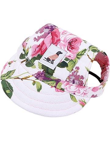 7cc5d633324e9 Pet Dog Hat Baseball Hat Summer Canvas Cap Pet Dog Outdoor Sports Cap  Flower Size S