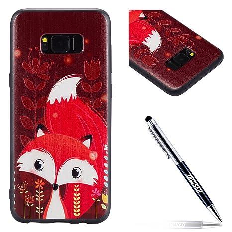 Funda Samsung Galaxy S8 Plus, Carcasa Samsung Galaxy S8 Plus G955, JAWSEU Samsung Galaxy S8 Plus Carcasa Cover Caso Creativa Diseño de Animados 3D ...