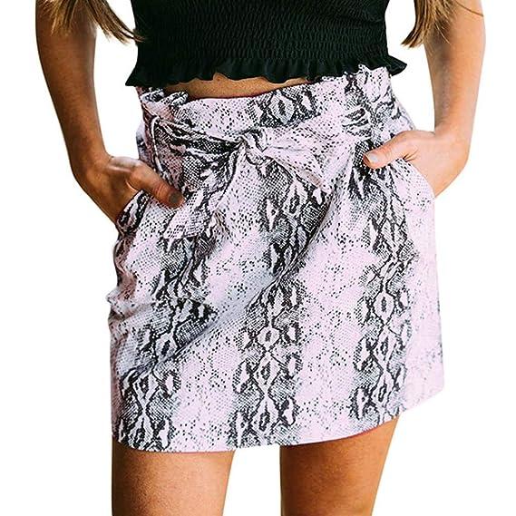 LeeMon - Falda para Mujer, Estilo Casual, diseño de Leopardo Negro ...