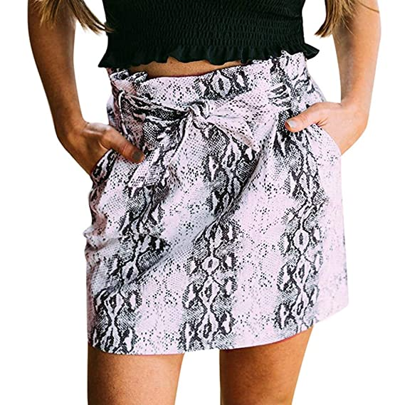 Beikoard ❤ Faldas Mujer Verano,Bolso Estampado Leopardo Cadera ...