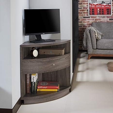 quite nice a897c 21522 Amazon.com: Simple Interior Modern Corner TV Stand - Multi ...