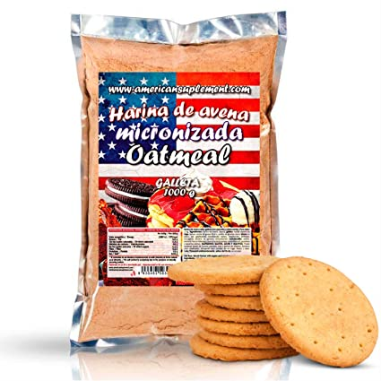 American Suplement - Harina de Avena Micronizada - 1kg - Galleta