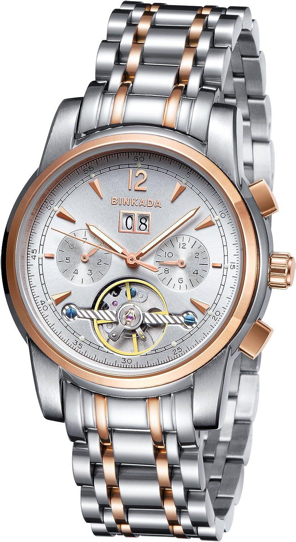 BINKADA Contemporary自動機械ホワイトダイヤルメンズ腕時計# 800701 – 3 B01DZLX46W