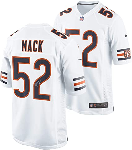 best cheap 45d21 1943c Khalil Mack Chicago Bears Autographed Nike White Game Jersey ...
