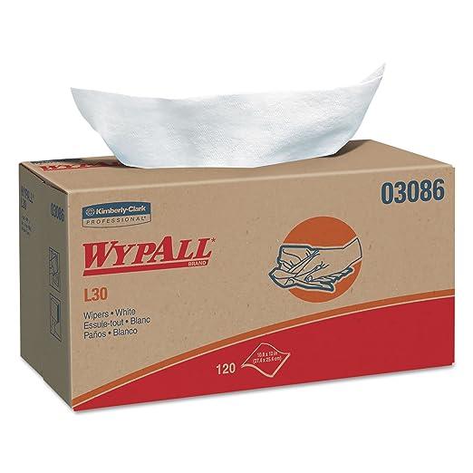 Amazon.com: * * WYPALL L30 Wipers, 10 x 9 4/5, Blanco, 120 ...