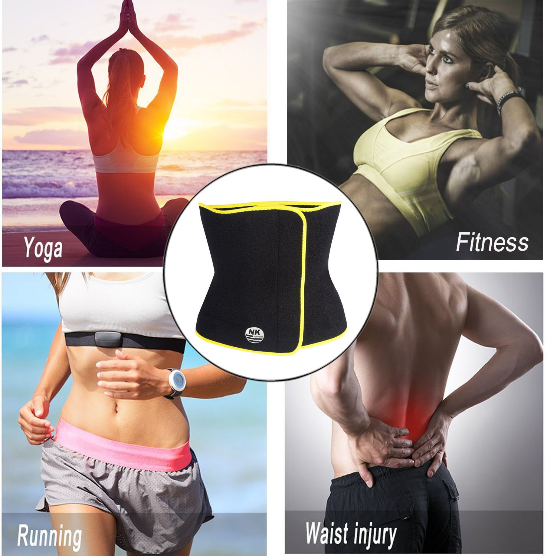 a7178b61f3 Aolvo Slim Fit Waist Trainer Adjustable Stomach Wraps Thermo Shaper Stomach  Fat Burner Neoprene Waist Belt ...