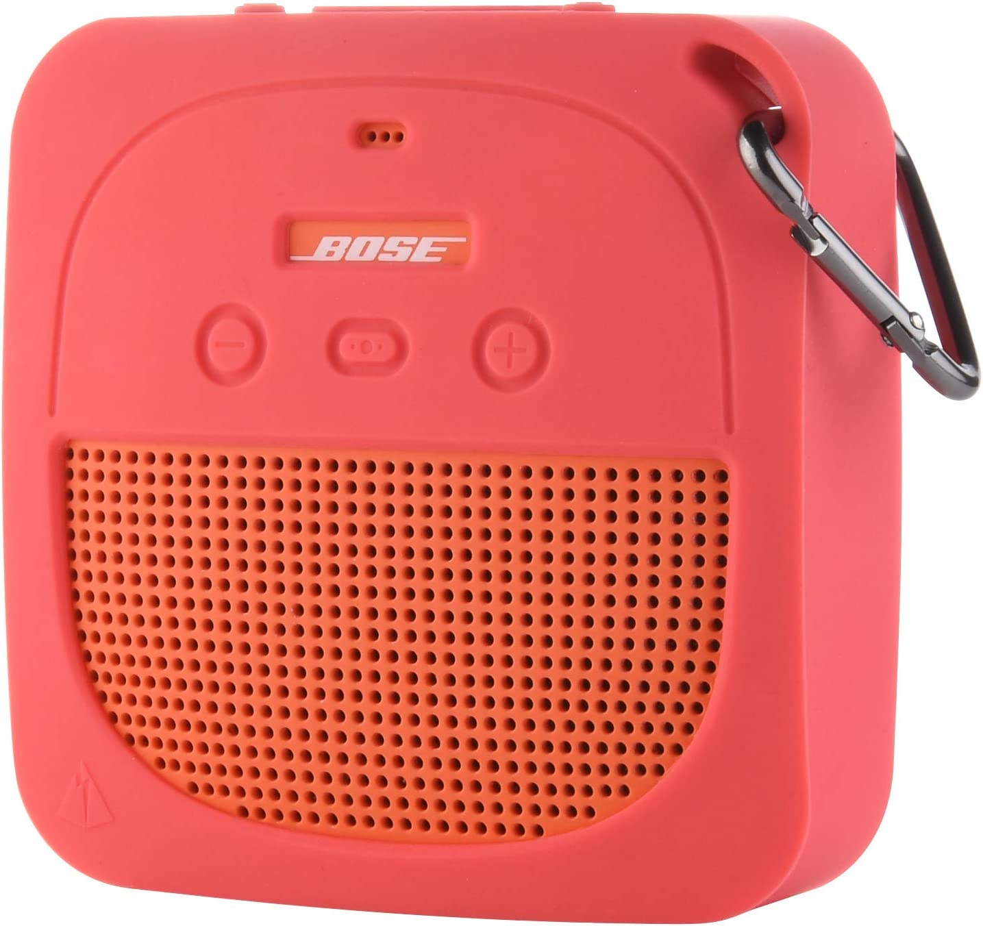 TXEsign Protective Silicone Stand Up Case for Bose Soundlink Micro Waterproof Bluetooth Portable Speaker (Hot Pink)