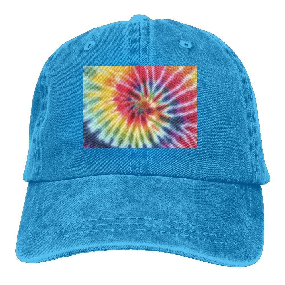 Trableade colorful Tie Dye Bros Pattern Adult Sport Adjustable Structured Baseball Cowboy Hat